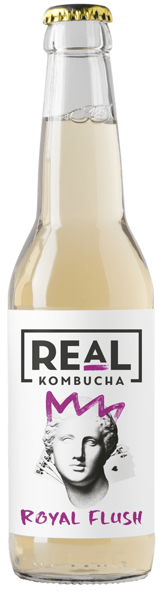 Real Kombucha Royal Flush made from First Flush Darjeeling tea